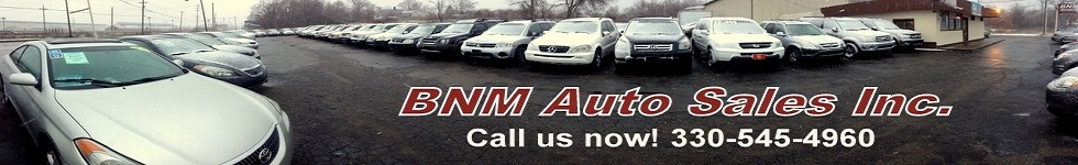 BNM Auto Sales Inc.. (330) 545-4960