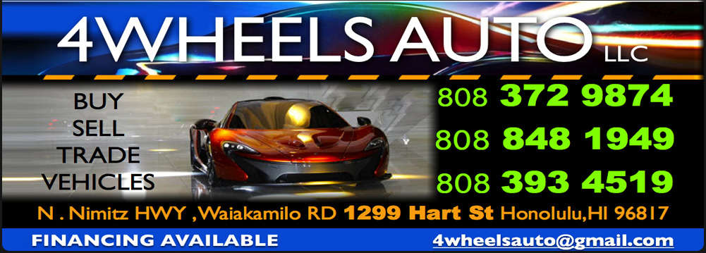 4 WHEELS AUTO LLC. (808) 848-1949