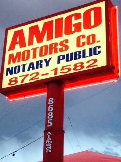 AMIGO MOTORS. (915) 872-1582