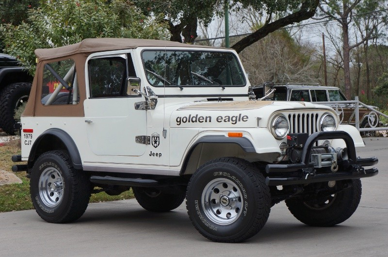 1979 jeep cj 7 golden eagle white 1979 jeep cj 7 classic car in league city tx 4198817901. Black Bedroom Furniture Sets. Home Design Ideas