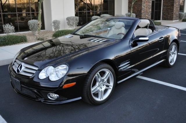 2007 mercedes benz sl550 sport roadster 5 5l v8 vegas motorcars inc auto dealership in las. Black Bedroom Furniture Sets. Home Design Ideas