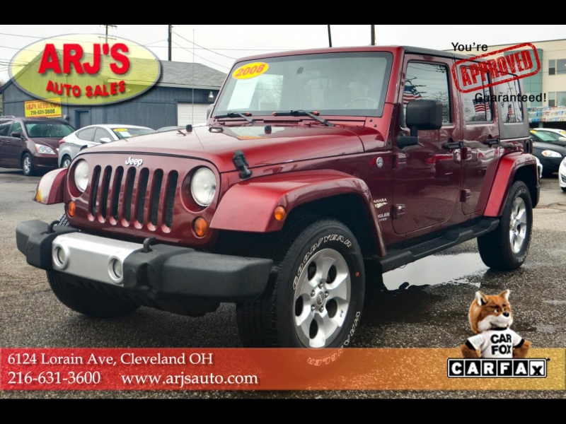2008 jeep wrangler 4wd 4dr unlimited sahara cars - cleveland, oh at geebo