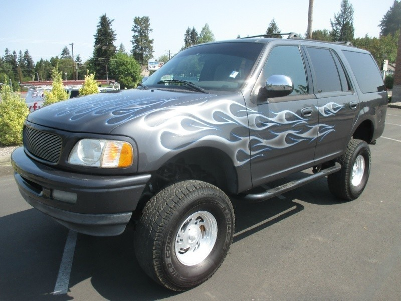 1998 Ford Expedition Xlt 4x4 Lifted Custom Flames