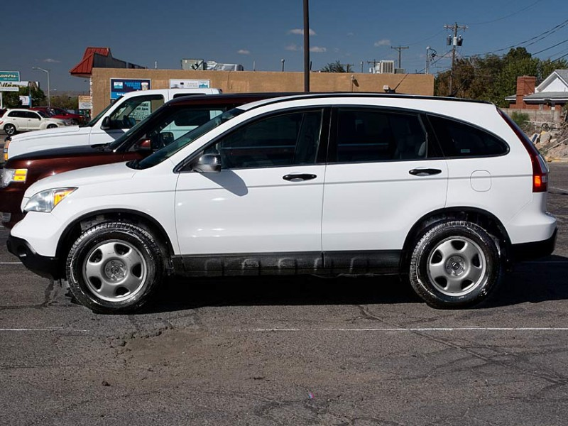 2009 Honda CR-V 4WD 5dr LX White Gray 118501 miles Stock P2608DP VIN 5J6RE48339L017024