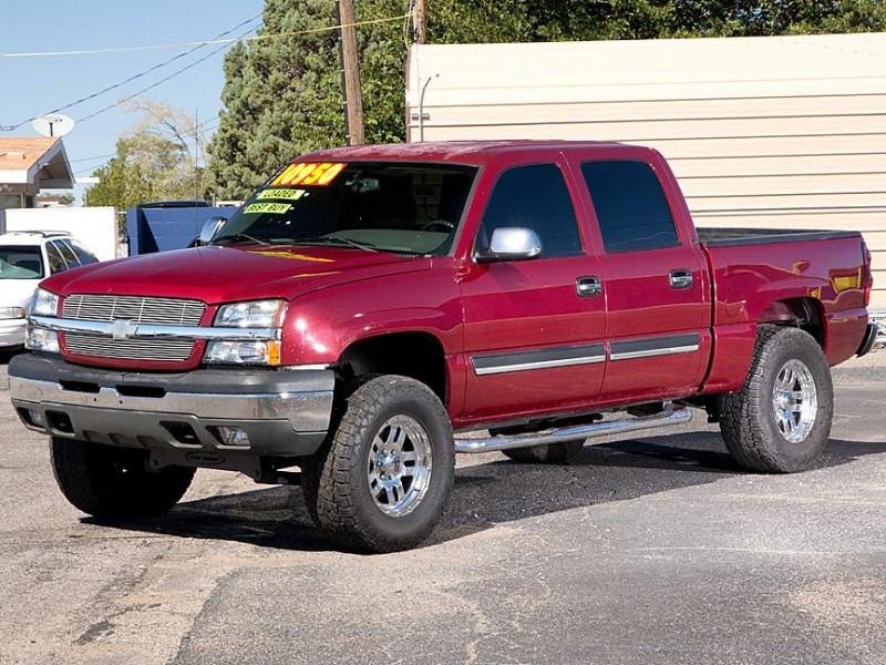2005 Chevrolet Silverado 1500 Crew Cab 1435 WB LS Red Beige 142983 miles Stock P2595DP VI