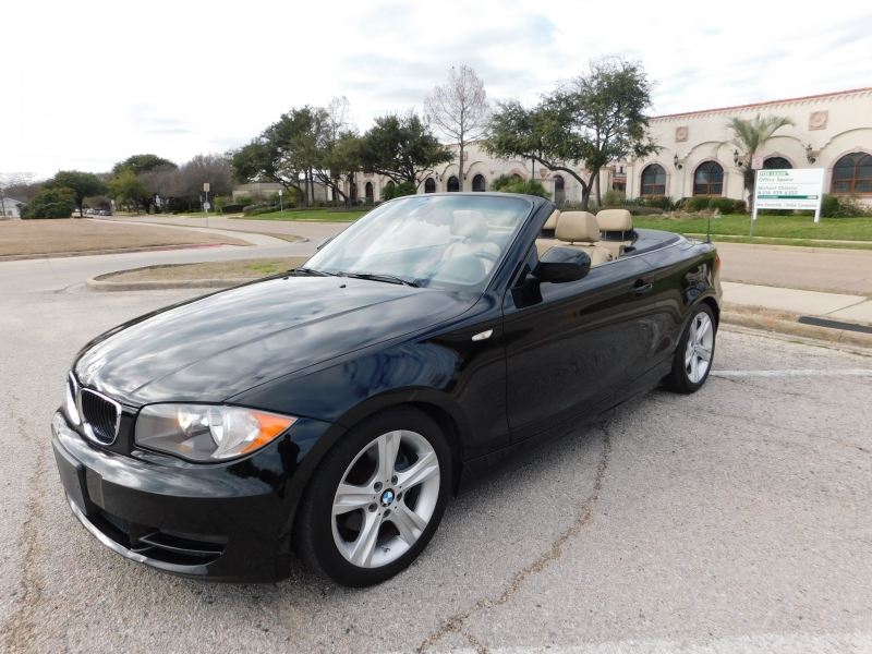 2011 bmw 1 series 2dr conv 128i, very clean, low miles, leather, new tires cars - richardson, tx at geebo