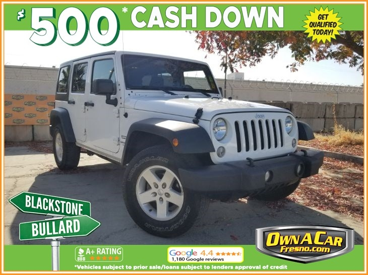 2017 jeep wrangler unlimited sport cars - fresno, ca at geebo
