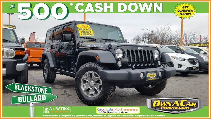 2016 jeep wrangler unlimited rubicon cars - fresno, ca at geebo
