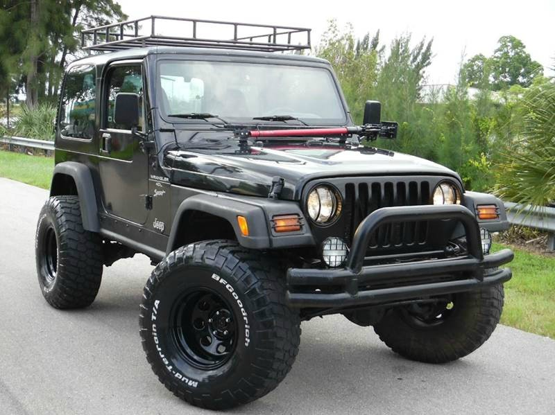 1999 jeep wrangler sport 4 0l manual 4 x 4 lifted hard top inventory wholesale cars florida. Black Bedroom Furniture Sets. Home Design Ideas