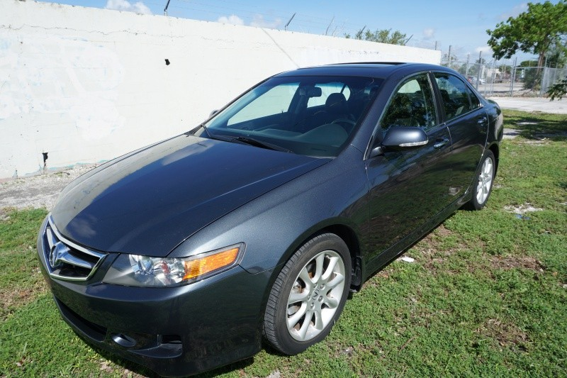 2008 Acura TSX 4dr Sdn Auto Nav Gray Black 80099 miles Stock 007270 VIN JH4CL96988C007270