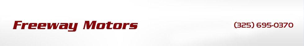 Freeway Motors. (325) 695-0370