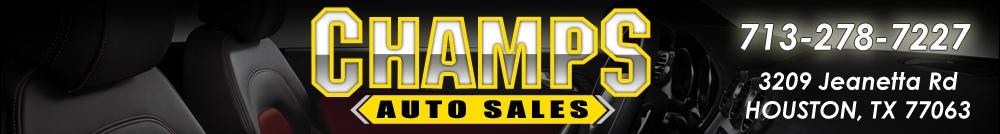 Champs Auto Sales. (713) 278-7227