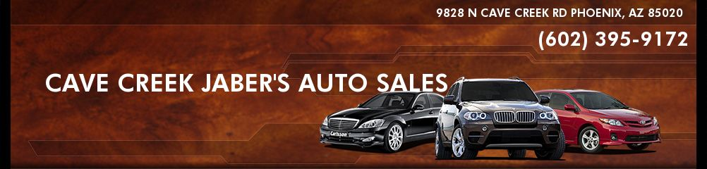CAVE CREEK JABER'S AUTO SALES. (602) 395-9172