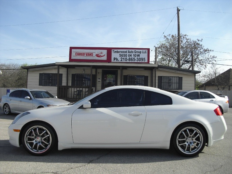 2005 infiniti g35 coupe 2dr cpe auto navigation sportpackage pearl white financing available. Black Bedroom Furniture Sets. Home Design Ideas