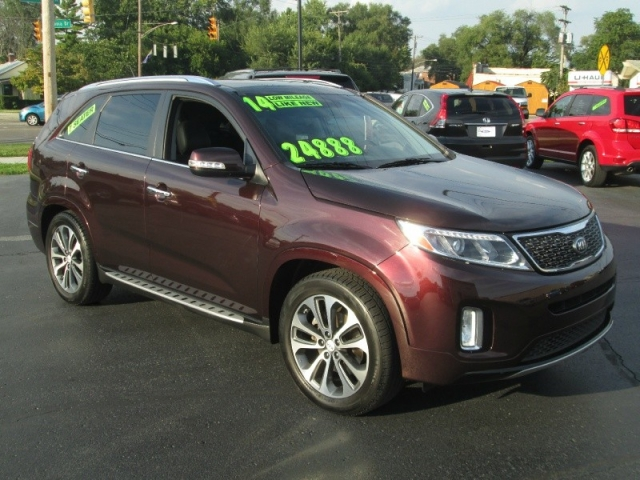 2014 kia sorento sx suv 3 rows of leather navigation clean carfax factory warranty. Black Bedroom Furniture Sets. Home Design Ideas