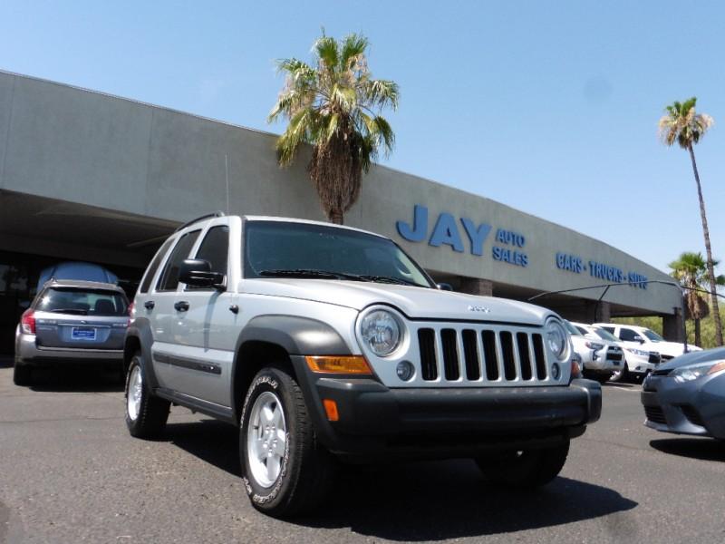 2007 Jeep Liberty 4X4 4dr Sport Silver Gray 91000 miles Stock 694435 VIN 1J4GL48K07W694435