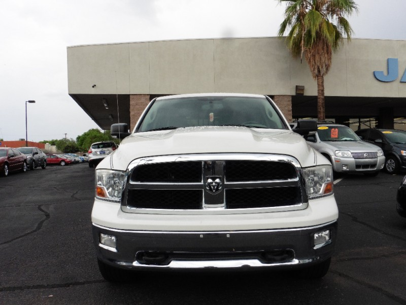 2009 Dodge Ram 1500 4X4 Quad Cab SLT White Black 92000 miles Stock 768318 VIN 1D3HV18T99S