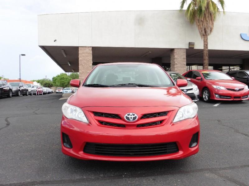 2011 Toyota Corolla 4dr Sdn Auto LE Natl Red Gray 89000 miles Stock 564497 VIN 2T1BU4EE1B
