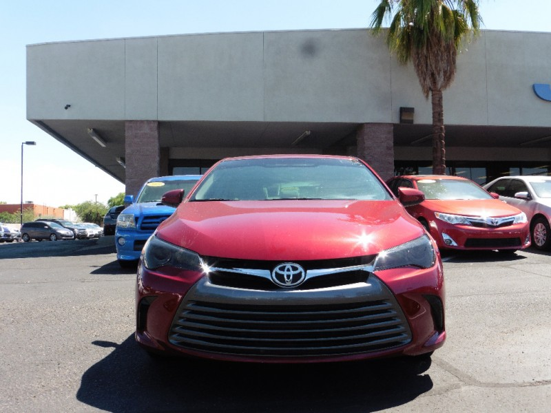 2016 Toyota Camry 4dr Sdn I4 Auto LE Natl Red Tan 11000 miles Stock 605721 VIN 4T1BF1FK7G