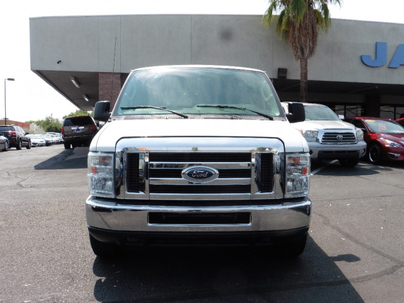 2013 Ford Econoline Wagon E-350 Super Duty Ext XLT White Gray 109000 miles Stock A00605 VI