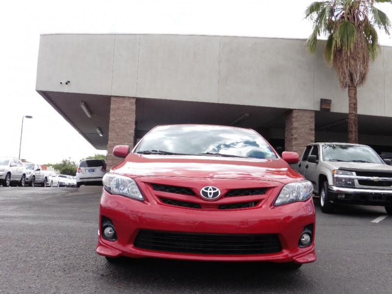 2012 Toyota Corolla 4dr Sdn Auto S Natl Red Black 76000 miles Stock 055895 VIN 5YFBU4EE8C