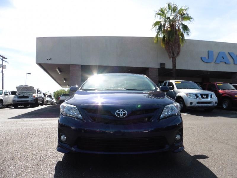 2013 Toyota Corolla 4dr Sdn Auto S Natl Blue Black 48000 miles Stock 113972 VIN 5YFBU4EE4
