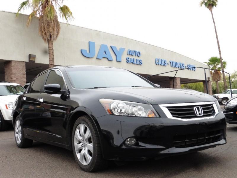 2008 Honda Accord Sdn 4dr V6 Auto EX-L Black Black 97000 miles Stock 026978 VIN 1HGCP3685