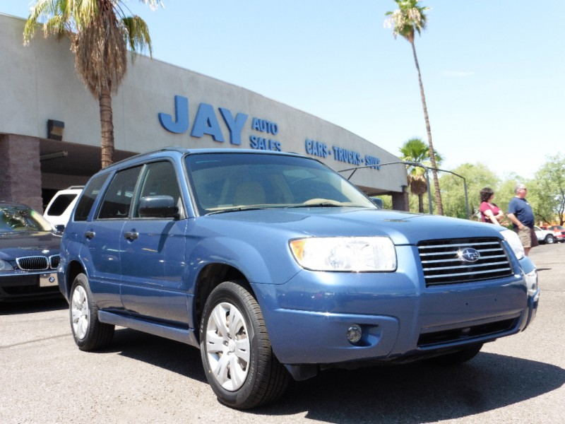 2008 Subaru Forester Natl 4dr Auto X Blue Tan 42000 miles Stock 714683 VIN JF1SG63638H7