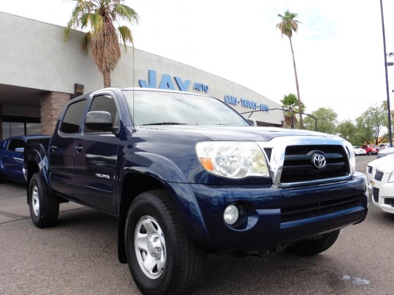 2007 Toyota Tacoma Double V6 AT PreRunner Blue Tan 104000 miles Stock 336570 VIN 5TEJU62N07
