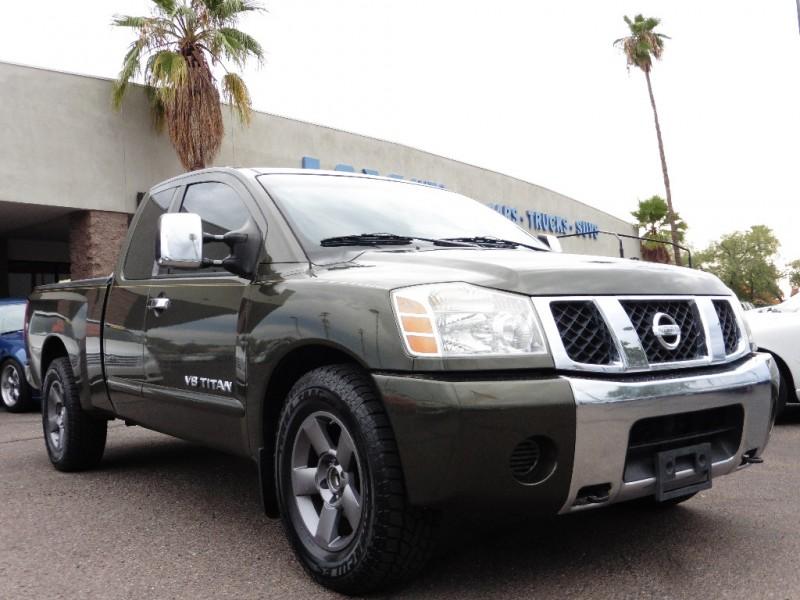 2005 Nissan Titan SE King Cab Green Black 112000 miles Stock 511765 VIN 1N6AA06A05N511765