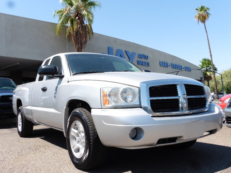 2007 Dodge Dakota 4X4 Club Cab 131 SLT Silver Gray 96000 miles Stock 129484 VIN 1D7HW42J77S