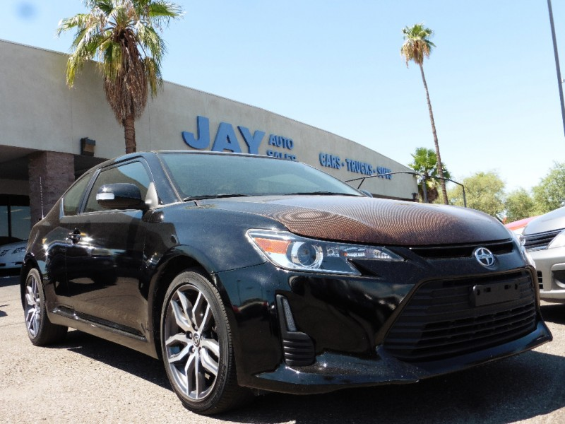 2014 Scion tC 2dr HB Auto Natl Gray Black 43000 miles Stock 087326 VIN JTKJF5C72E3087326