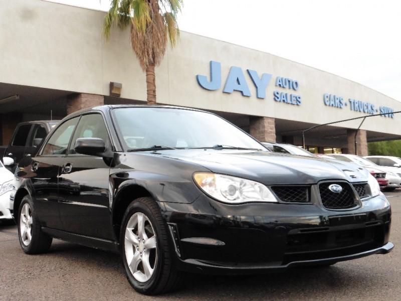 2007 Subaru Impreza Sedan 4dr H4 AT i Black Gray 95000 miles Stock 504822 VIN JF1GD61647H