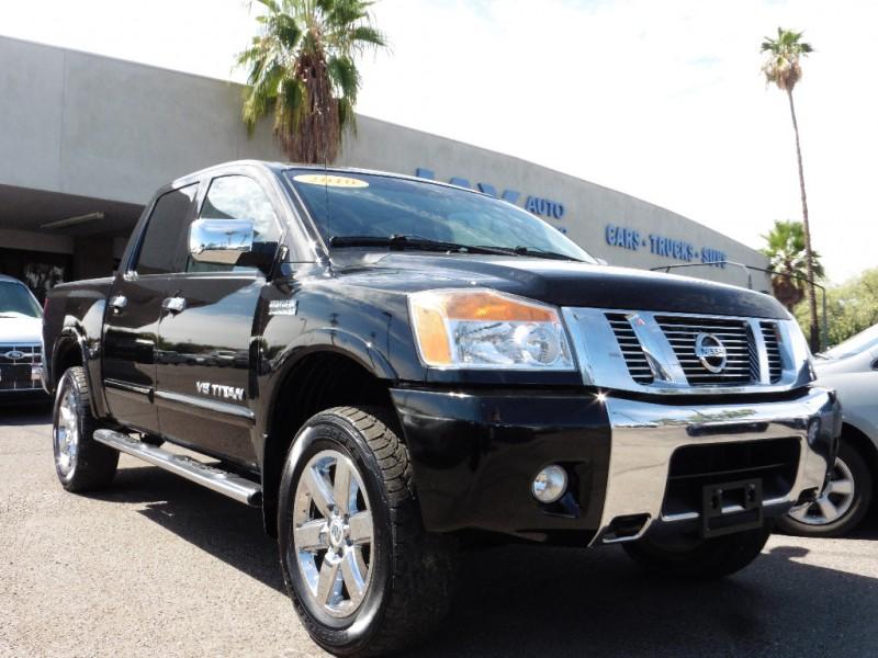 2010 Nissan Titan 4X4 Crew Cab SWB SE Black Black 99000 miles Stock 312648 VIN 1N6BA0EC7AN3