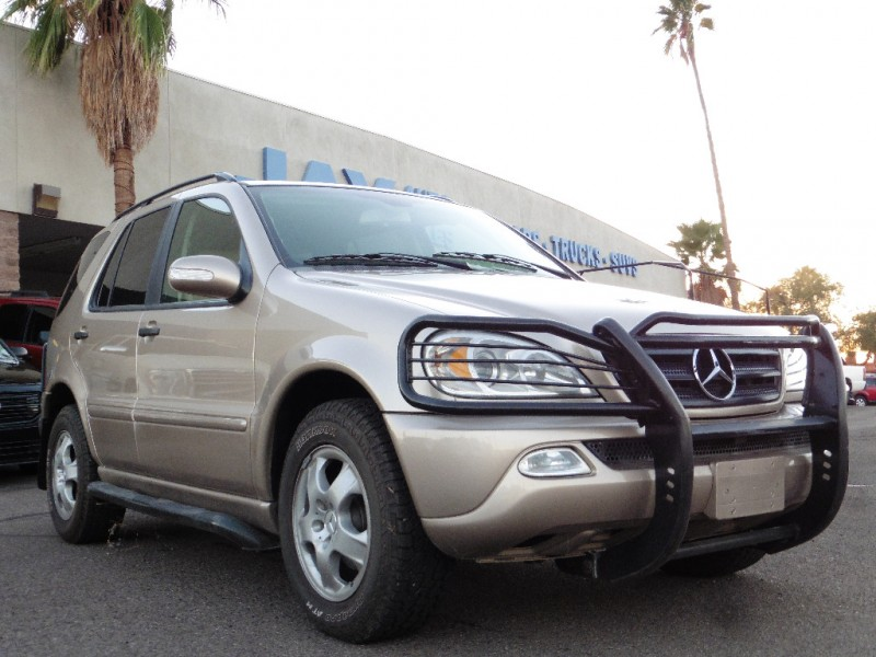2002 Mercedes M-Class 4dr AWD 32L Gold Tan 129000 miles Stock 353731 VIN 4JGAB54E12A353731