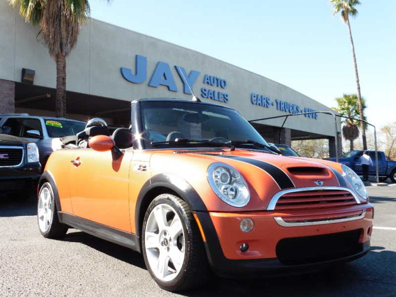 2005 Mini Cooper Convertible 2dr Convertible S Orange Gray 98000 miles Stock F83628 VIN W