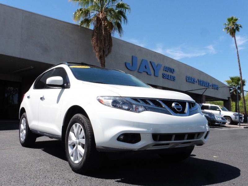 2012 Nissan Murano SL White Tan 64000 miles Stock 117369 VIN JN8AZ1MU2CW117369