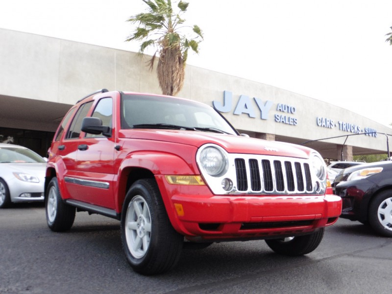 2005 Jeep Liberty 4dr Limited 4X4 Red Gray 111000 miles Stock 512264 VIN 1J4GL58K75W512264