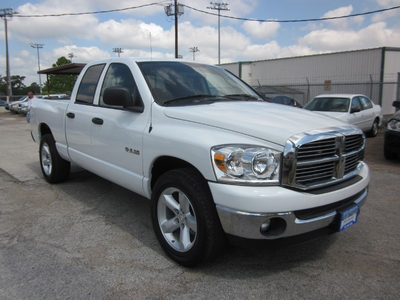 2008 Dodge Ram 1500 2WD Quad Cab 1405 White Gray 106354 miles Stock 7112 VIN 1D7HA18N68S5