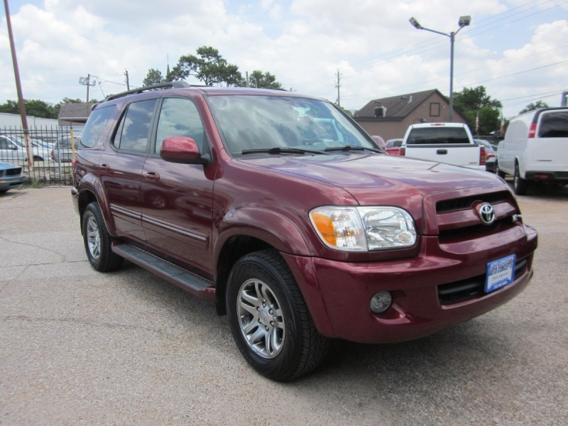 2007 Toyota Sequoia 2WD 4dr SR5 Red Tan 110025 miles Stock 7132 VIN 5TDZT34A37S290311
