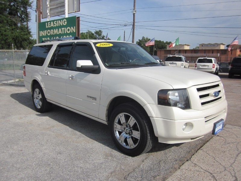 2008 Ford Expedition EL 2WD 4dr Limited White Gray 110400 miles Stock 7182 VIN 1FMFK19568L