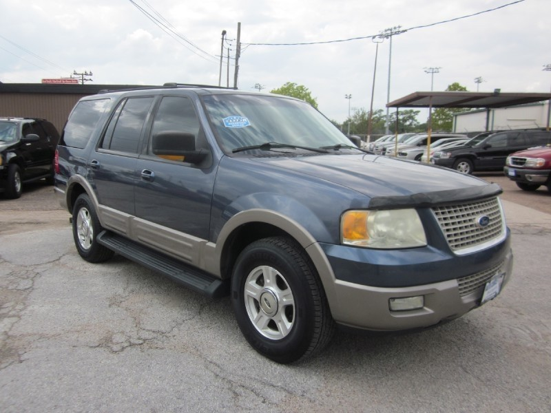 2003 Ford Expedition 54L Eddie Bauer Blue Tan 161987 miles Stock 7267 VIN 1FMRU17L33LA30397