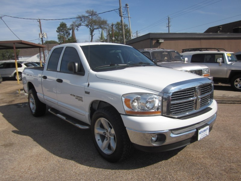 2006 Dodge Ram 1500 4dr Quad Cab 1405 ST White Gray 120115 miles Stock 7545 VIN 1D7HA1823