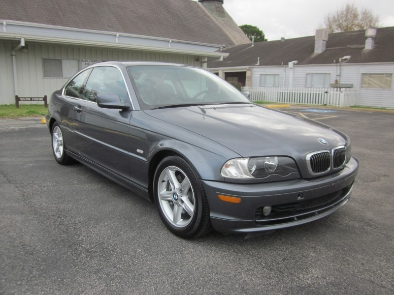 2001 BMW 3 Series 325Ci 2dr Cpe Gray Black 119483 miles Stock 7457 VIN WBABN33471JW59311