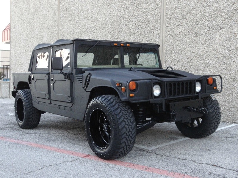 1994 Hummer H1 Open Top 4 Door Open Top 65L DieselH1Completely Kevlar Lined in BlackSoft