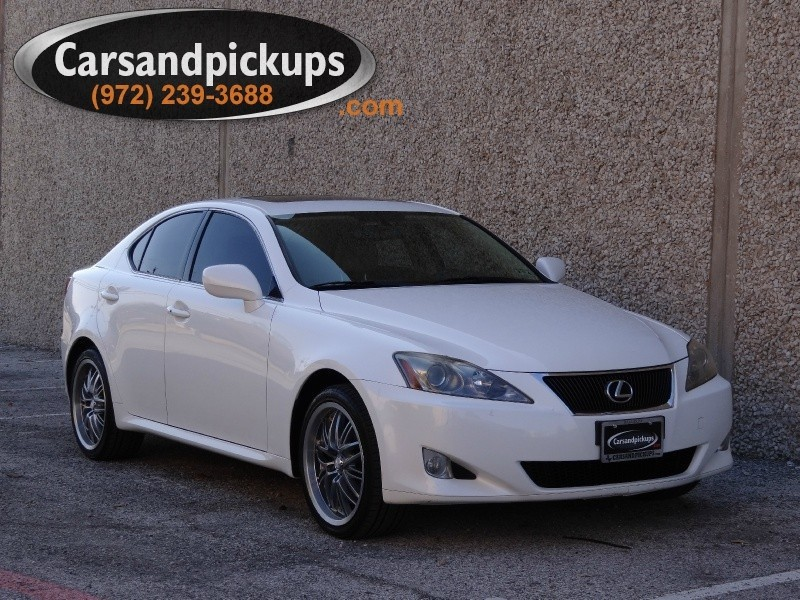 2006 Lexus IS 250 4dr Sport Sdn AWD Auto Clean CarfaxAWDIS 250White on TanCustom Wheels