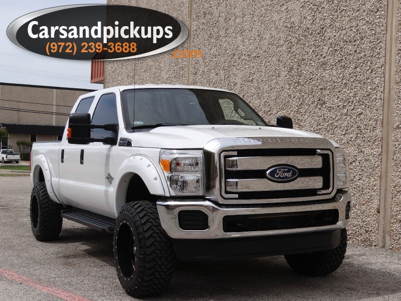 2011 Ford F-250 4WD Crew Cab XLT Leather Lifted 1 OwnerClean Carfax2011 Ford Super Duty F-250