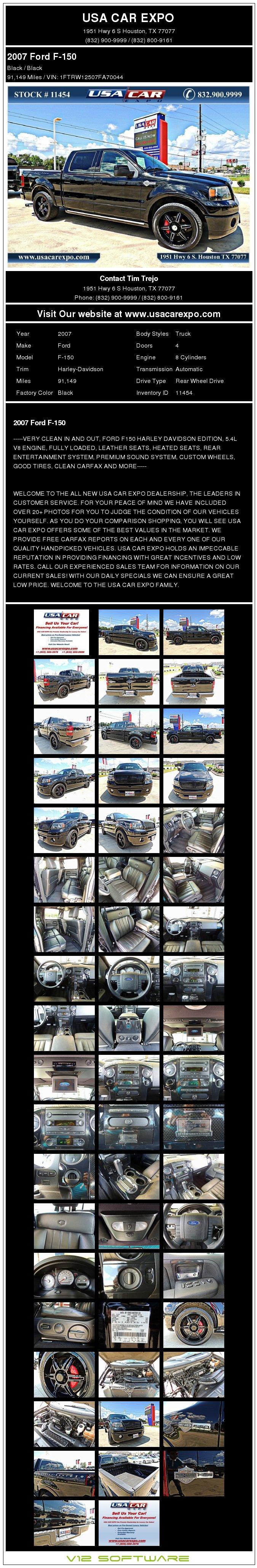 $18,900, 2007 Ford F-150 Harley-davidson