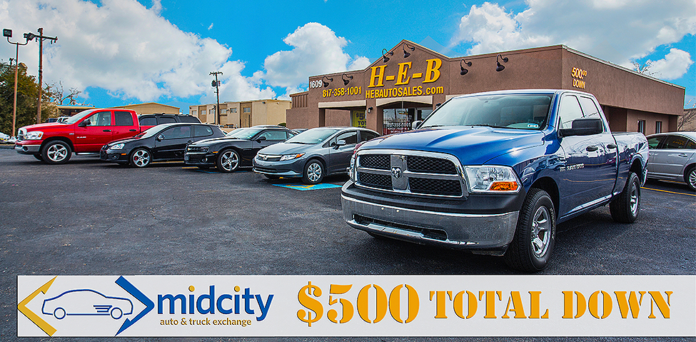 HEB Auto Sales Inc. Serving Hurst, Euless, Bedford, & local