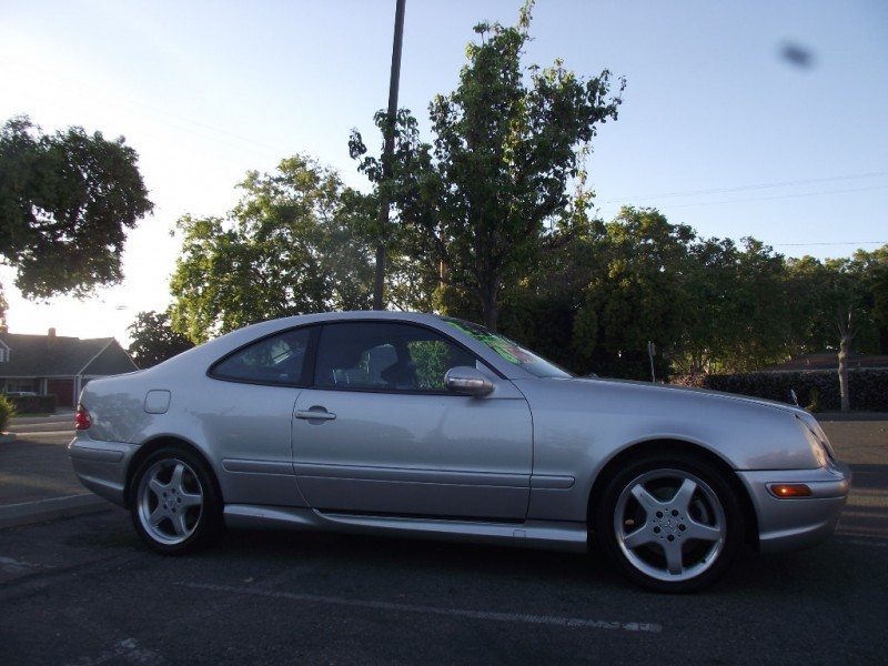 2002 Mercedes CLK-Class 2dr Cpe 43L Silver Gray 114988 miles Stock 094283 VIN WDBLJ70G02T0